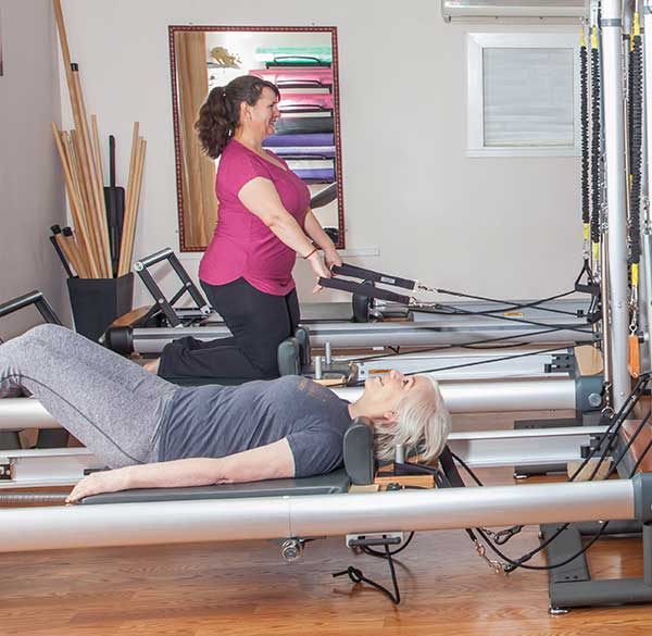 Private Access Members on Pilates Reformers