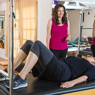 Mary Gorman at the Movement Studio treating fibromyalgia